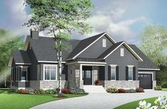 Right-Sized Bungalow - 22350DR | Bungalow, Craftsman, Northwest, Traditional, Canadian, Metric, 1st Floor Master Suite, CAD Available, PDF | Architectural Designs