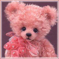 Pinky Pleasures Brings You A Cuddly Pink Bear My Teddy Bear, Cute Teddy Bears, Teddy Toys, Bear Wallpaper, Boyds Bears, Love Bear, Color Rosa, Pink Color, Stuffed Animals