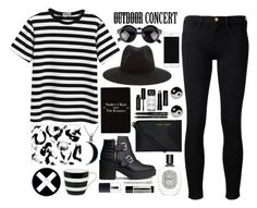 """Outdoor concert"" by melaniemodefr ❤ liked on Polyvore featuring moda, Chicnova Fashion, Frame Denim, rag & bone, Diptyque, Aesop, Rich and Damned, NARS Cosmetics, Könitz y Bobbi Brown Cosmetics"