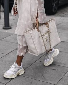 Top 38 Designer Dad Sneakers on trend! – Top 38 Designer Dad Sneakers on trend! – Top 38 Designer Dad Sneakers on trend! Chanel Handbags, Fashion Handbags, Tote Handbags, Fashion Bags, Fashion Accessories, Tote Bags, Chanel Fashion, Chanel Tote Bag, Designer Handbags