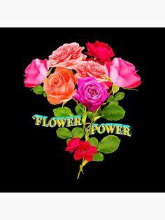 Dekokissen mit dem Text Flower Power, im Hintergrund ein Blumenstrau�. Mit diesem Shirt kannst du ein Statement setzen und zeigen, dass du dich um den blauen Planeten sorgst. Flower Power, Statements, Classic T Shirts, Flowers, Design, Planets, Royal Icing Flowers, Flower