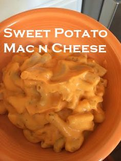 Sweet potatoes are the main ingredient in this creamy version of every kids' favorite meal, macaroni and cheese. I would like to state that I see nothing wrong with the real deal. It's creamy, d...