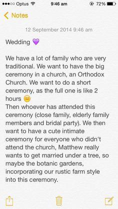 Ceremonies :)