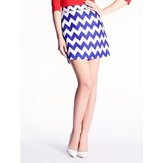Chevron is so hot right now! I like the trend on this mini skirt.