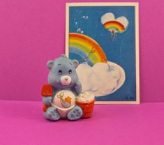 Care Bear Countdown  4..3..2..1  Miniature Baby Tugs Carebear Figure 1985 by SmilingMemories on Etsy