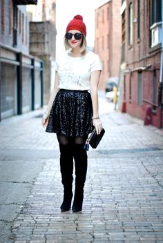 cute party outfit from Laceyperspective
