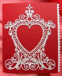My parchment heart card design and creation of a copyright-free clip art. From my collection: Dainty Designs No. 2.
