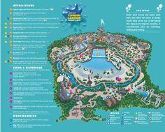 Disneys Typhoon Lagoon Water Park map
