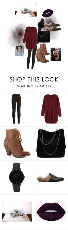 """""""Outside the house or inside the house"""" by dominiquebambi ❤ liked on Polyvore featuring Ryan Roche, Mojo Moxy, Gucci, CLUSE and kalalou"""