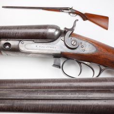 """Parker Lifter Shotgun - It's a family affair when you consider our GOTD, a fine classic 10 gauge Parker """"Lifter"""" shotgun. In Meriden, CT - Charles Parker brought in his sons Wilbur and Dexter after the American Civil War to help build fine side-by-side shotguns. The early Lifter action of the Parker design was strong and durable, as well as easy opening, as the operation could be performed by either hand. NRA National Sporting Arms Museum at Bass Pro Shops in Springfield, MO."""