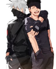 Buddies. Why does Obito look so cute in this picture??