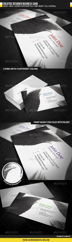 Creative Designer Business Card GraphicRiver General Description This Is Designed With