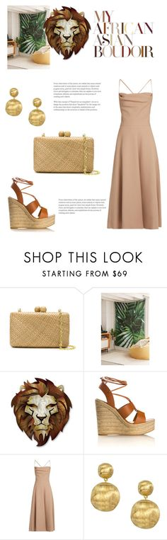 """peaceful mind"" by gabrielleleroy ❤ liked on Polyvore featuring Serpui, DENY Designs, Walls, Yves Saint Laurent, Valentino and Marco Bicego"