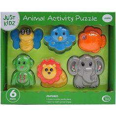 Just Kidz 6-Piece Animal Activity Puzzle