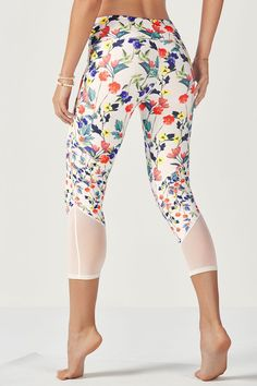 Brogan Capri - Poppy Field Large/Poppy Field Small/Ivory