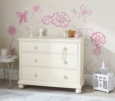 I love the Flower & Butterfly Decal on potterybarnkids.com