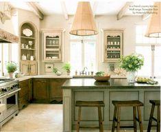 vignette design: Progress In The Kitchen Country Kitchen, New Kitchen, Kitchen Decor, Kitchen Ideas, Eclectic Kitchen, Cheap Kitchen, Rustic Kitchen, Beautiful Kitchens, Cool Kitchens