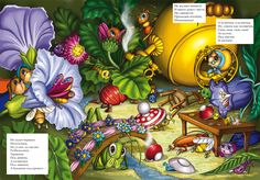 Every man for himself! Illustrators, Wonderland, Comic Books, Fun, Fairy, Painting, Nature, Insects, Naturaleza