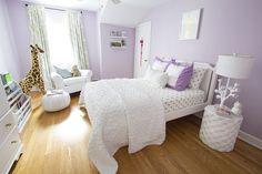 Lilac & mint little girl's room - Room Design by Jana Bek Design, janabek.com
