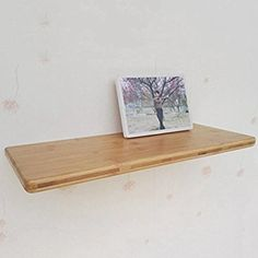 Enerhu Bamboo Wall Rack Wall Shelf Wall-mounted Storage Rack Living Room/Style Decor M: Amazon.co.uk: Kitchen & Home