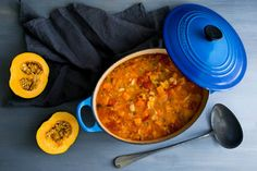 Minestrone with giant white beans and squash