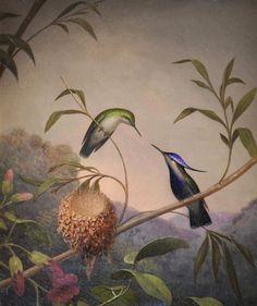 MARTIN JOHNSON HEADE (1819-1904), Blue Crested Hummingbird, 1864