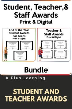 Teacher Awards, Student Awards, Teacher Resources, Digital Prints, Education, Learning, Life, Ideas, Products