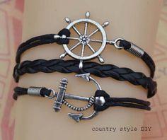 Anchor bracelet pirates  the rudder bracelet by CountrystyleDIY, $2.59