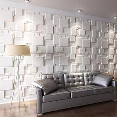 Wall Panels for Interior Wall Decoration Brick Design Pack of 6 Tile. Vinyl Wall Panels, Decorative Wall Panels, 3d Textured Wall Panels, Brick Design, Wall Design, 3d Wandplatten, Interior Walls, Interior Design, Bamboo Panels