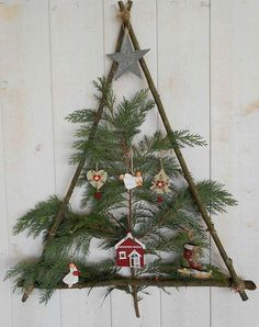 Pinterest: 6 Christmas trees decorated with taste