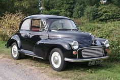 1968 Morris 1000 (black with red interior)