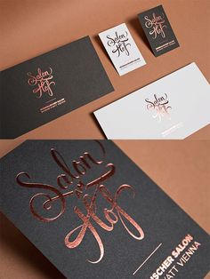 salon am hof by formdusche gold foil business card makeup business cards embossed - Rose Gold Business Cards