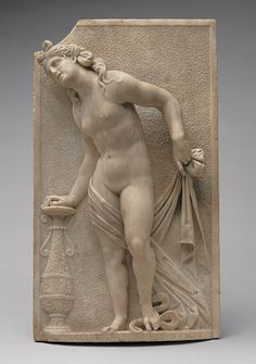 Attributed to Antonio Lombardo (Italian, 1458–1516). Eurydice, ca. 1510–16. The Metropolitan Museum of Art, New York. Gift of J. Pierpont Morgan, 1917 (17.190.737) | This relief evokes the love between the classical scholar Gaspare Fantuzzi (ca. 1465/70–1536) and his wife Dorotea Castelli, who were both members of patrician families in Bologna and were married in 1502.