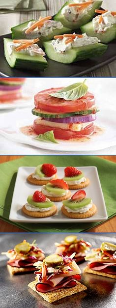 Cold Appetizer Recipes Check out our delicious and easy cold appetizer recipes. Our no-bake appetizer recipes make the perfect easy snacks and appetizers for casual cookouts, tailgating and parties. - created via http://pinthemall.net