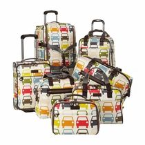 Orla Kiely Travel Collection: Tripp Bags. I would love to own the whole set!