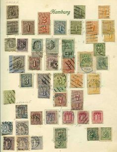 Old German States Hamburg, Michel MICHEL ()# - Hamburg: 1859 / 67, rich collection with many interesting superb pieces, color shades, various postmark types etc., mixed quality  Lot condition *  (*)  Dealer Schlegel Online Auktionen  Auction Starting Price: 1200.00 EUR