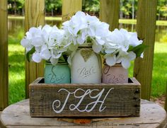 Hey, I found this really awesome Etsy listing at https://www.etsy.com/nz/listing/243565867/rustic-wedding-centerpiece-mint-and-pale