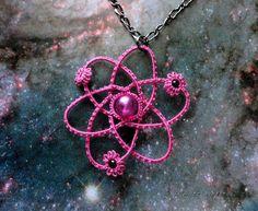 Crochet jewelry - looks like an atom, HOW ADORABLE!!!!