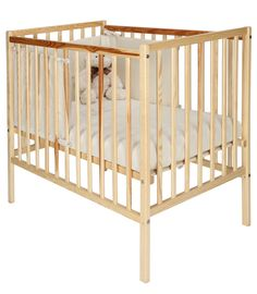 Buy your Kiddicare.com Space-Saver Cot - Natural - Including Pack 55 reviews from kiddicare.ie Cots With Mattress| Online baby shop | Nursery Equipment for Ireland