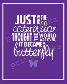 Custom Decor Butterfly Print  Purple  Girl's Room by PrintChicks, $32.00