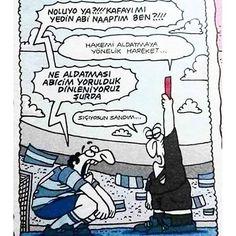 Siçiyorsun sandim :)) #karikatur #caps #mizah #komik #mac #futbol #hakem #aldatmaya #yonelik #haraket #karikaturzade ...