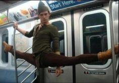 peter pan on a train.  It's Jakob Karr