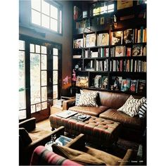 interiors / books & records ❤ liked on Polyvore featuring rooms, home, houses, backgrounds and pictures