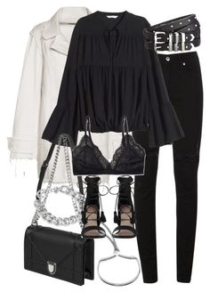 """""""Untitled #1987"""" by sophiasstyle ❤ liked on Polyvore featuring Monica Vinader, Balenciaga, McQ by Alexander McQueen, H&M, NLY Accessories, Talula, Zimmermann and The Kooples"""