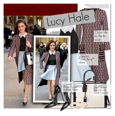 """""""Celebrity style: Lucy Hale"""" by nastya-d ❤ liked on Polyvore featuring Oscar de la Renta, Alex Perry, Yves Saint Laurent, Casadei, GetTheLook, LucyHale and CelebrityStyle"""