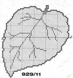 szyd Freeform Crochet, Tapestry Crochet, Crochet Motif, Irish Crochet, Crochet Stitches, Crochet Leaf Patterns, Crochet Leaves, Doily Patterns, Crochet Flowers