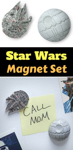 Star Wars Millennium Falcon and Death Star Magnet Set - Star Wars Kitchen items #magnet #starwars #kitchen