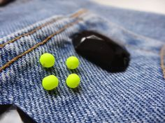 Easy customisation with bead on denim shorts. Win a pair here!
