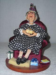 Nana's Family Doll  NANA 90th Birthday  Richard Simmons by Annie Wahl