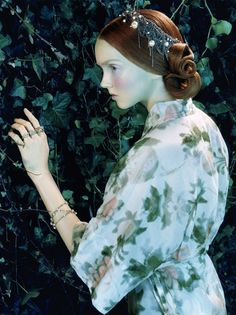 Lily Cole photographed by Miles Aldridge for Vogue Italia, February 2005 ('Like a Painting').